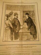 Caricature 1891 - Italie je collectionne les médailles et pièces de monnaie rare