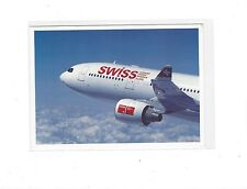 Swiss International Airlines issued Airbus A330 cont/l  postcard