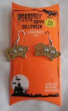 Dangle Pierced Boo Google Eye Earrings Horribly Happy Halloween Glow in the Dark
