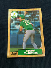 MARK MCGWIRE ROOKIE TOPPS 1987 OAKLAND A'S RC BASEBALL CARD  HOT!! HOT !! HOT!!