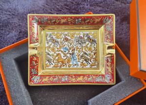 HERMES PARIS ASCHENBECHER Porzellan CIGAR ASHTRAY Chasse en Inde