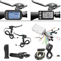 24V/36V/48V 250W/350W/1500W Brushless Controller+LCD+Throttle+Speed Sensor+Brake