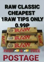 Raw Rolling Papers genuine King Size Slim Roach Tips Filters Smoking Tobacco kit