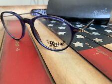 Persol Eyeglasses 3125V 1053 Blue Optical Frame 49-19-140. Option to Add RX