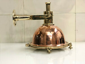 NAUTICAL NEW MARINE BRASS AND COPPER HANGING SMALL LIGHT WITH BASE STAND ONE PCS