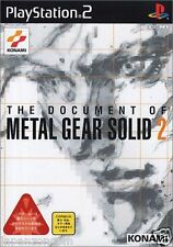 Used PS2 The Document of Metal Gear Solid 2 SONY PLAYSTATION 2 JAPAN IMPORT