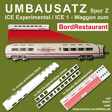 Art.Nr. 5025 - Umbausatz ICE Experimental / ICE1 - Waggon auf ICE BordRestaurant