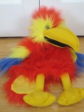"PUPPET COMPANY LARGE 18"" PARROT Wv SQUALK SOUND FULL BODIED SOFT TOY"
