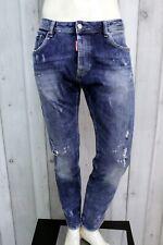 DSQUARED2 Jeans Uomo Taglia 52 Pantalone Regular Cotone Pants Men Man Italy