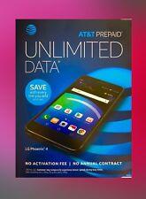 Brand New LG Phoenix 4 AT&T 4G LTE Prepaid Smart Phone - 16GB