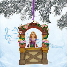 "2014 ""SINGING"" RAPUNZEL SKETCHBOOK ORNAMENT TANGLED MOVIE DISNEY STORE FREE SHIP"