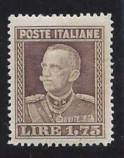 REGNO 1929 Effige VE  III 1,75L dent. 13 3/4 MNH** ECCEZIONALE