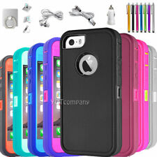 For iPhone 5 5s SE 5C Case Hybrid Rugged Shockproof Protective Heavy Duty Cover