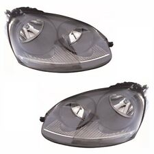 For VW Golf Mk5 Excludes Gti 10/2003-5/2004 Headlights Lamps Grey Pair OS NS