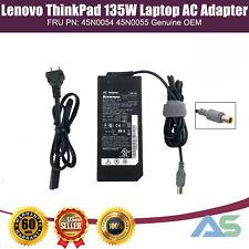 OEM Lenovo Thinkpad 135W Laptop AC Adapter Charger Power 45N0054 45N0055