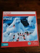 "Coca-Cola Polar Bears Buffalo Games 1000 Piece Puzzle NEW 26.75""X19.75"""