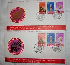 Stamps with Envelopes Indonesia - Mint, Envelope, Expo 86 Vancouver