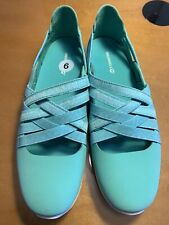 Women's New NWOB MERRELL Mint Green MARY JANE PERFORMANCE SPORT SHOES Sz 9 (10-