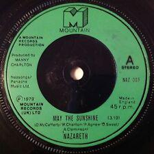 "Nazareth 7"" Vinyl Single "" May the Sunshine "" Dan McCafferty ""Expect No Mercy """