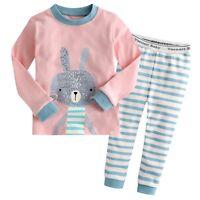 """Vaenait Baby Toddler Kids Girls Clothes Pajama Sleepwear Set """"Pink Bunny"""" 12M-7T"""