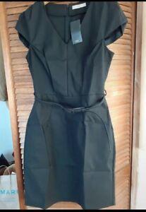 Mango Black Belted Dress UK12