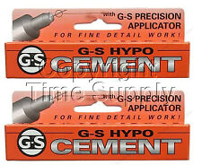 2PC GS HYPO CEMENT GLUE HOBBY, CRAFT AND WATCH CRYSTAL GLUE **USA**