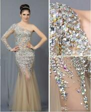 Sexy Long Formal Evening Celebrity Dress Beaded Mermaid Pageant Party Prom Gown