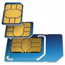 NEW O2 PAY AS YOU GO PAYG 02 COMBI SIM CARD FOR IPHONE 5, 6, 6s, 7, BLACKBERRY