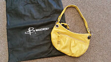 B. MAKOWSKY PURSE gold WOMENS HAND BAG genuine LEATHER BEAUTIFUL EUC