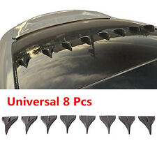 8 PCS Universal BLACK Vortex Generators Roof Shark Fins Spoiler Wing Kit for Car