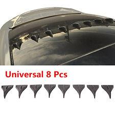 8 PCS Universal BLACK Vortex Generators Roof Shark Fins Spoiler Wing Kit for Car