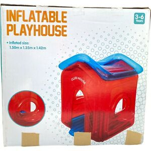 Inflatable Playhouse Toy Airblown Cubby Play Ground House Indoor Outdoor Tent