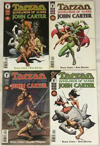 TARZAN & JOHN CARTER#1-4 VF/NM LOT 1996 DARK HORSE COMICS