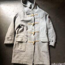 Men's Vintage Ralph Eton Japan Heather Gray Hooded Wool Toggle Coat Jacket Sz S