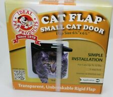 "IDEAL PET PRODUCTS 6 1/4"" x 6 1/4"" Small Cat Door Flap New Sealed White"