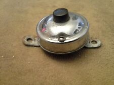 Vintage Door Bell Button  used   Brass with chrome tone #6