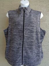 Kim Rogers  Light Weight Fleece Fashion Vest 2X Heather Gray  msrp $44.