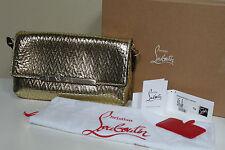 New Christian Louboutin Rougissime Gold Logo Clutch Purse Shoulder Bag Handbag
