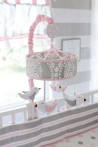My Baby Sam~ Olivia Rose Musical  Crib Mobile Pink Birds Brahms Lulluby Shower