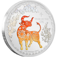 2021 Lunar Year of the Ox 1oz Silver Coin NZ MINT