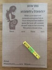 How Big is Mummy's Tummy Baby Shower Game & Tape Measure * FREE P&P* Kraft A16