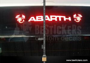 Adesivo terzo stop fiat 595 ABARTH - 2 scorprioni applicazione DA INTERNO vetro