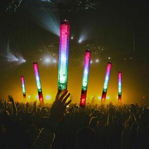 DJ Flashing Glow Stick LED Wands Rally Rave Batons Light Up Sticks