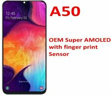 Samsung Galaxy A50 2019 A505 AMOLED LCD Display Touch Screen Digitizer + Frame