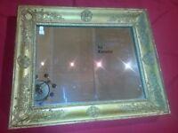 Cadre restauration début XIX siècle avec miroir