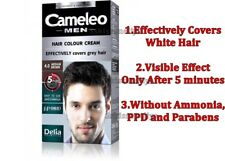 Delia Cameleo  Hair Color Cream for MAN 4.0 Medium Brown Ammonia - Free 30ml