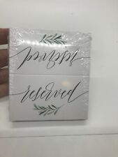 25 VIP Reserved Sign Tent Place Cards For Table at Restaurant, Wedding...