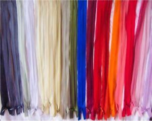 "Professional Finish Invisible Lace Reverse Coil Zipper no.3 8""(20cm)to 22""(55cm)"