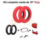PACK 2 Neumáticos Wanda 10' Rojos +2 cámaras + soportes para Xiaomi M365 / M365