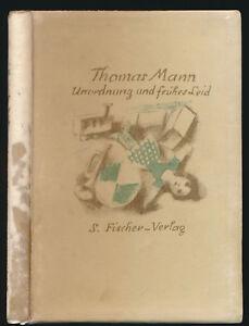 Thomas Mann: Unordnung und frühes Leid (1926). Signierte Vorzugsausgabe.